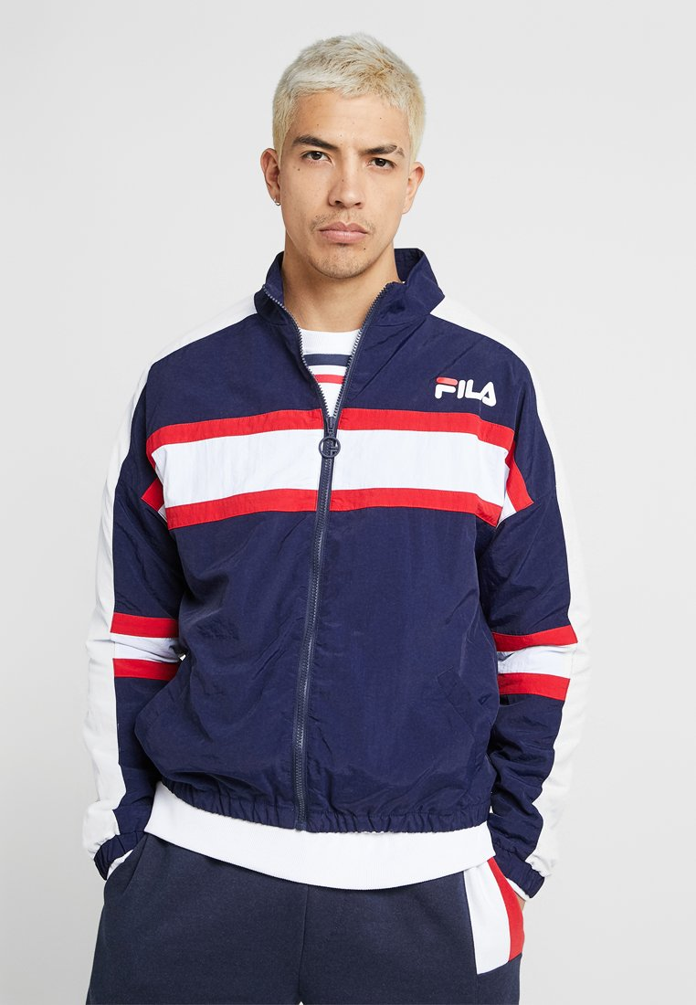 Fila - CARTER COLOUR POP STRIPE JACKET - Training jacket - peacoat