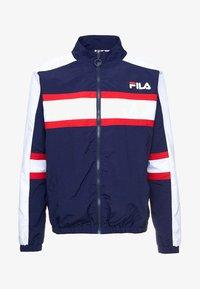 Fila - CARTER COLOUR POP STRIPE JACKET - Training jacket - peacoat - 4