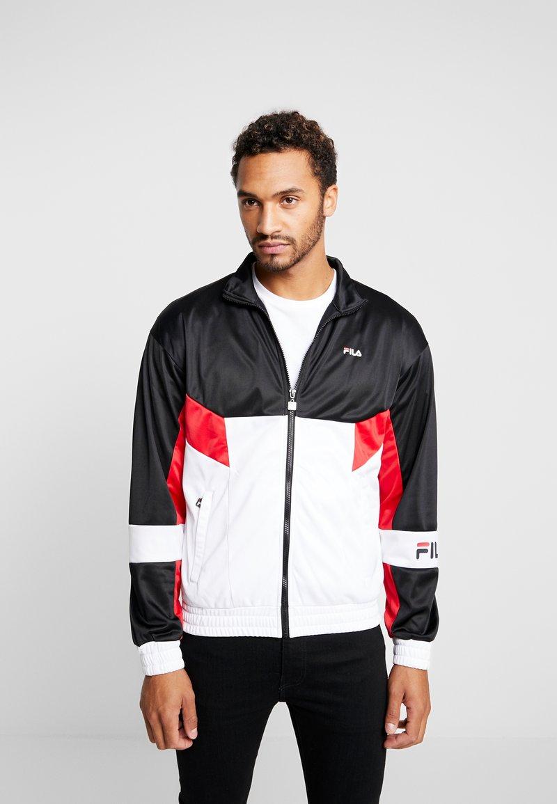 Fila - TALEN TRACK JACKET - Training jacket - bright white/black iris/true red