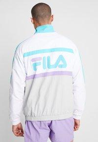 Fila - JONA WOVEN HALF ZIP JACKET - Treningsjakke - Bright white/blue curacao/violet tulip - 2