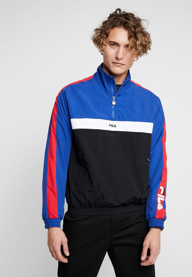 JONA HALF ZIP JACKET - Vindjakke - mazarine blue/truered bright/white/black