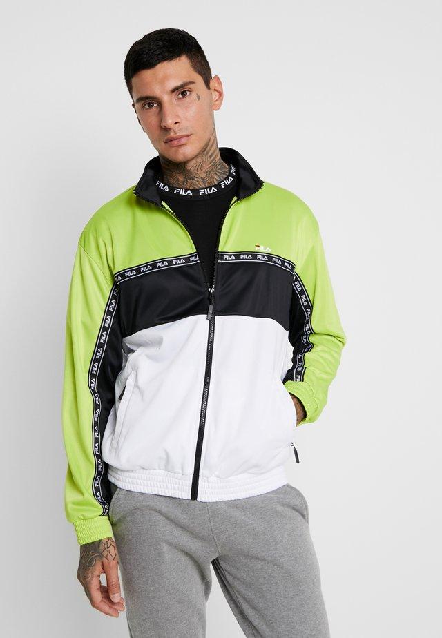 HACHIRO TRACK JACKET - Training jacket - acid lime/black/bright white