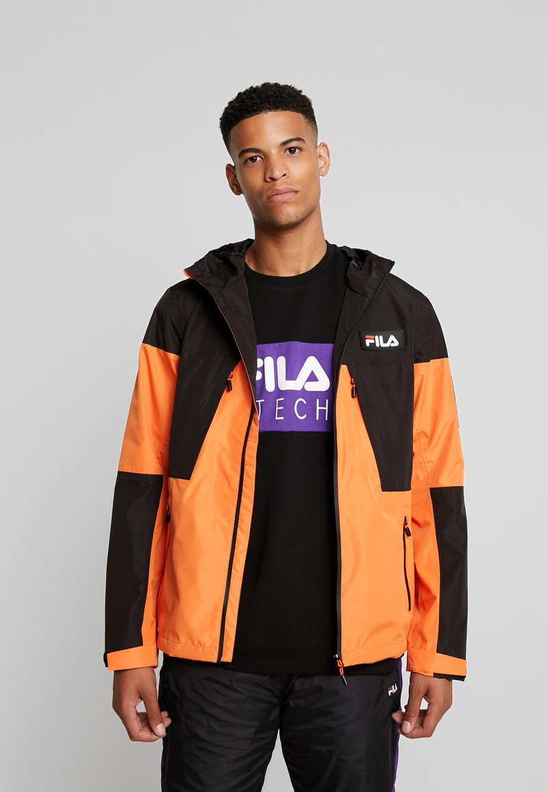 Fila - HERB SHELL JACKET - Chaqueta fina - mandarin orange/black