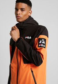 Fila - HERB SHELL JACKET - Chaqueta fina - mandarin orange/black - 5