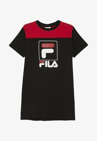 Fila - JESSICA - Sukienka z dżerseju - black/true red - 2