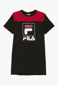 Fila - JESSICA - Sukienka z dżerseju - black/true red - 0