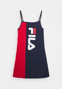 Fila - TIEN - Korte jurk - black iris/true red - 0