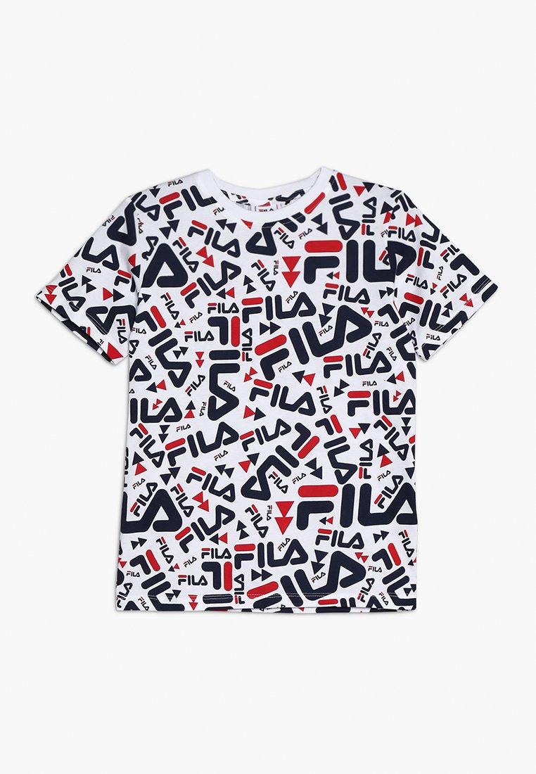 Fila - KIDS ZARA TEE - T-shirt print - white