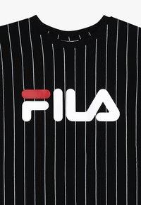 Fila - KIDS ZOE STRIPE TEE - T-shirt med print - black - 3
