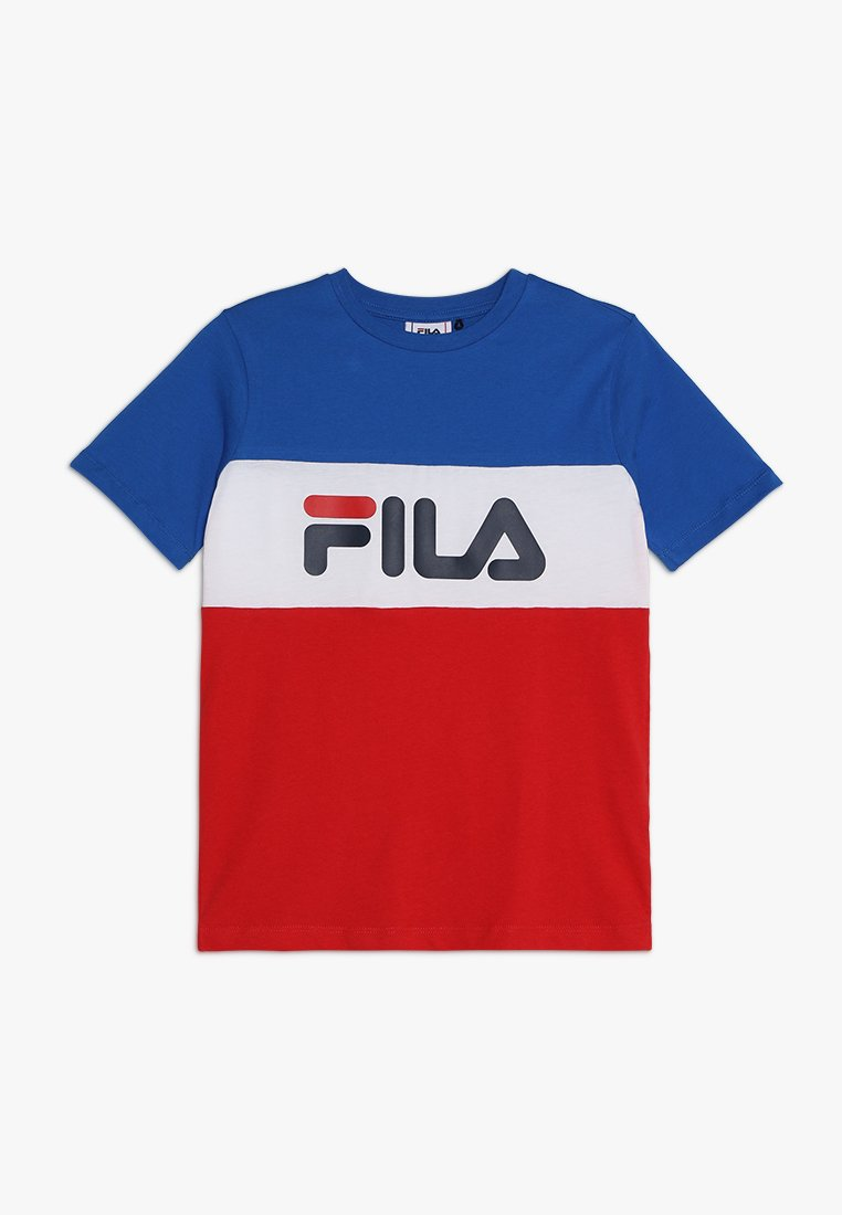 Fila - DAY BLOCKED TEE - T-shirts print - lapis blue/bright white/true red