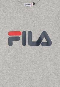 Fila - CLASSIC LOGO TEE - T-shirt imprimé - light grey melange - 3