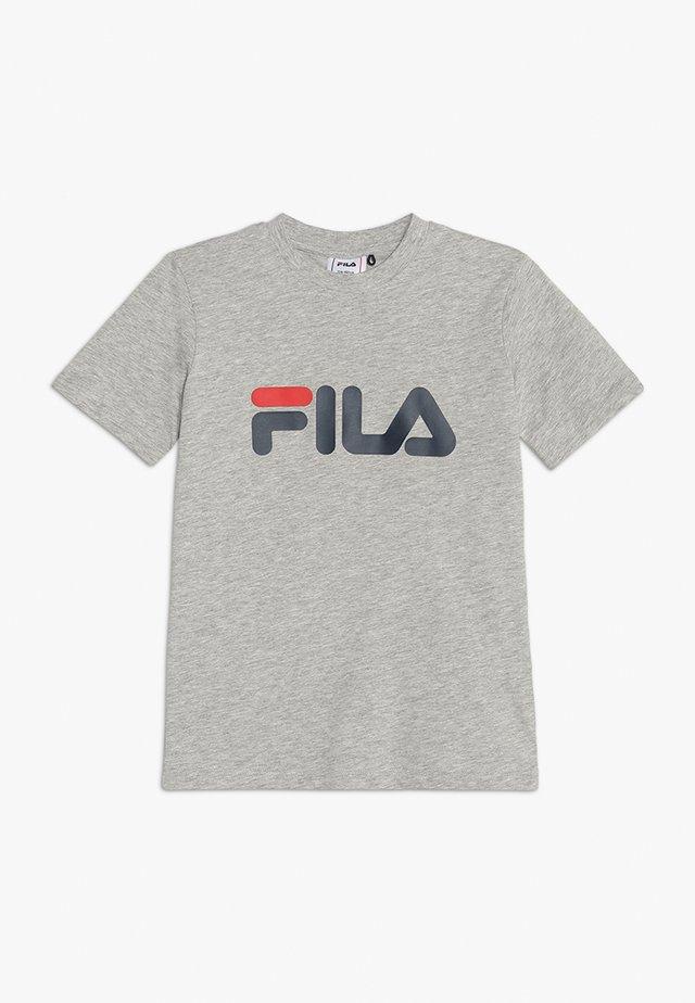 CLASSIC LOGO TEE - Camiseta estampada - light grey melange