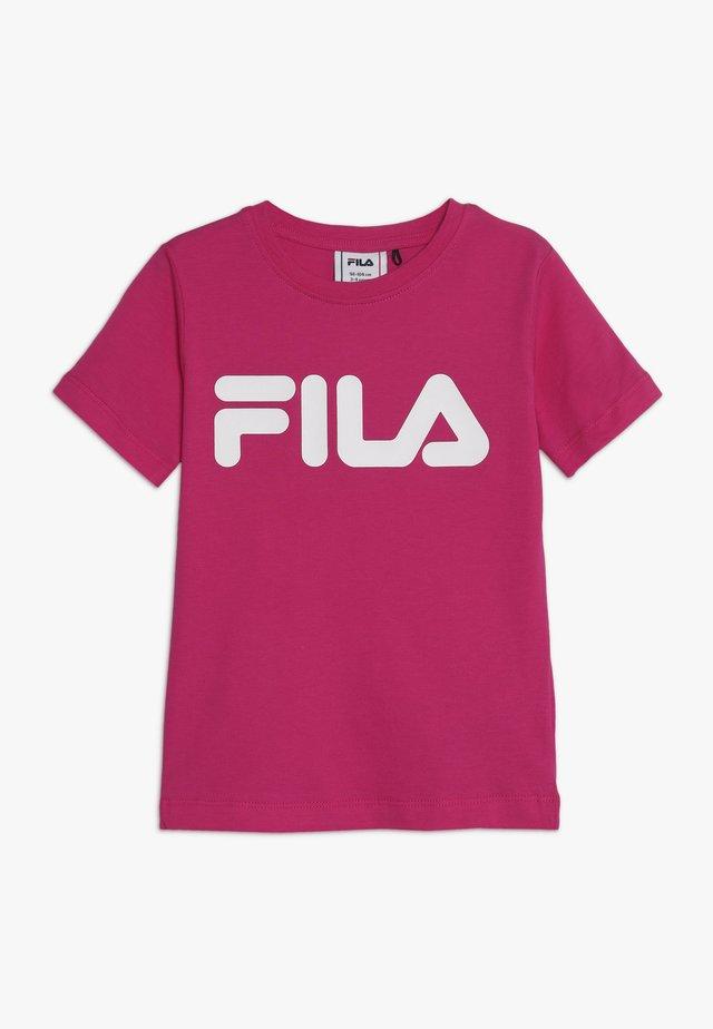 CLASSIC LOGO TEE - T-shirt print - pink yarrow
