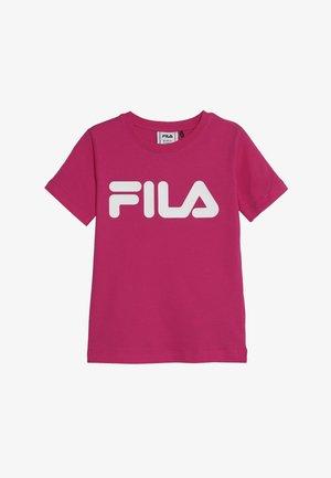 CLASSIC LOGO TEE - T-shirt med print - pink yarrow