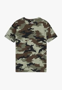 Fila - ALLOVER TEE - T-shirt imprimé - green - 1