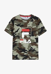 Fila - ALLOVER TEE - T-shirt imprimé - green - 2