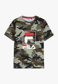 Fila - ALLOVER TEE - T-shirt imprimé - green - 0