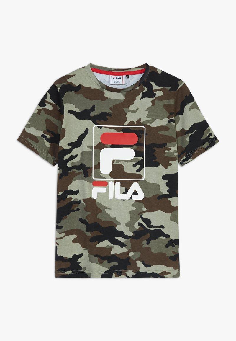 Fila - ALLOVER TEE - T-shirt print - green