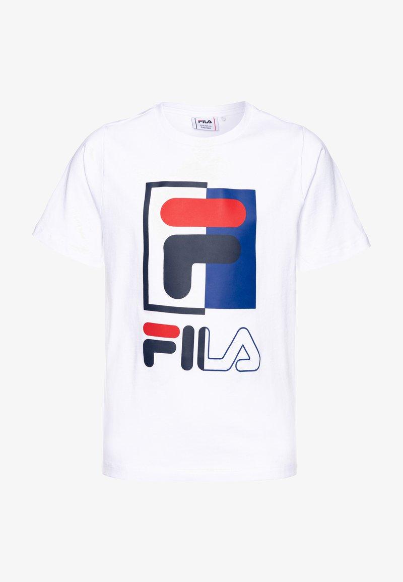 Fila - SAKU - T-shirt imprimé - bright white