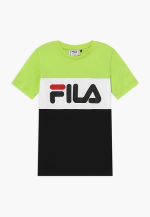 DAY BLOCKED TEE - T-shirts med print - sharp green/black/bright white