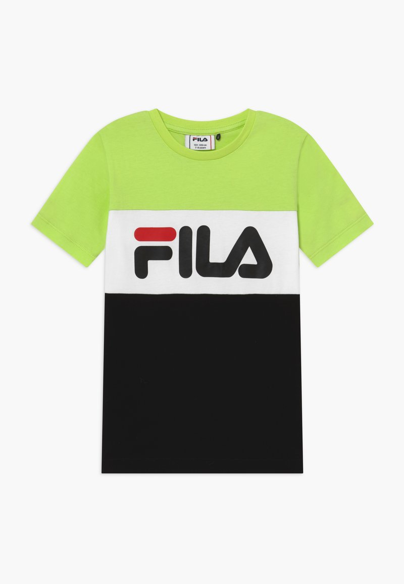Fila - DAY BLOCKED TEE - T-shirt print - sharp green/black/bright white