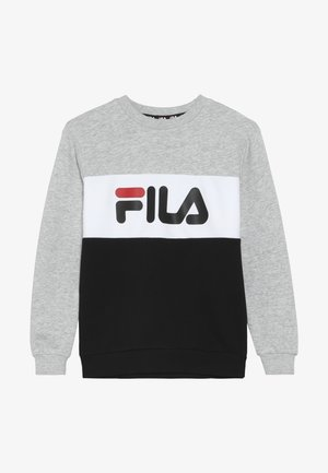 NIGHT BLOCKED CREW  - Sweatshirt - light grey melange/black/bright white