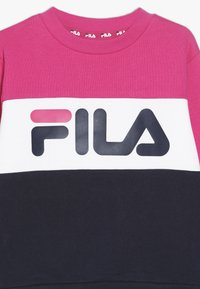 Fila - NIGHT BLOCKED CREW  - Sweatshirt - pink yarrow/black iris/bright white - 3