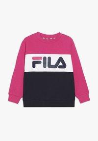 Fila - NIGHT BLOCKED CREW  - Sweatshirt - pink yarrow/black iris/bright white - 0