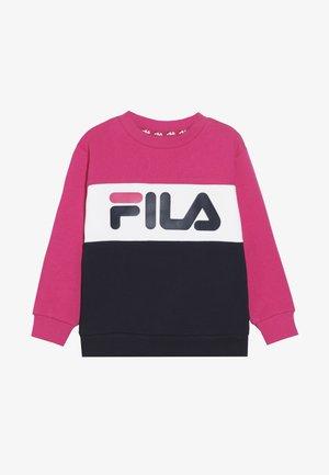 NIGHT BLOCKED CREW  - Sweatshirt - pink yarrow/black iris/bright white