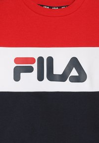 Fila - NIGHT BLOCKED CREW  - Sweatshirt - black iris/true red/bright white - 3