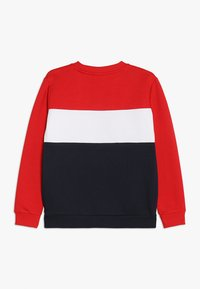 Fila - NIGHT BLOCKED CREW  - Sweatshirt - black iris/true red/bright white - 1