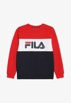 NIGHT BLOCKED CREW  - Sweatshirt - black iris/true red/bright white