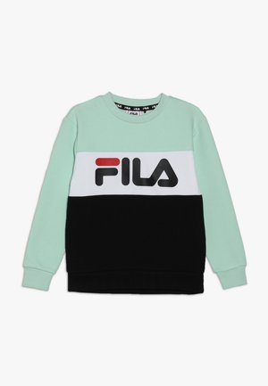 NIGHT BLOCKED CREW  - Sweatshirt - mist green/black/bright white