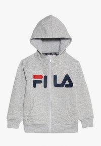 Fila - CLASSIC LOGO ZIP HOODY - Sudadera con cremallera - light grey melange - 0