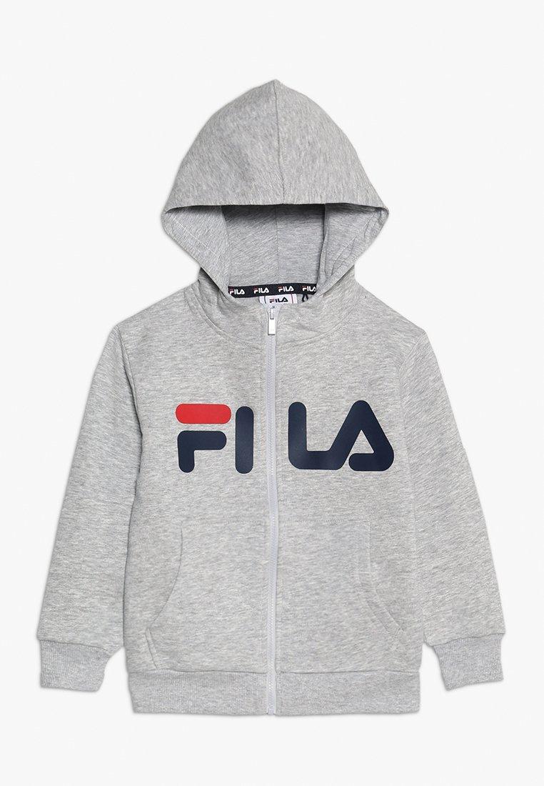 Fila - CLASSIC LOGO ZIP HOODY - Sudadera con cremallera - light grey melange