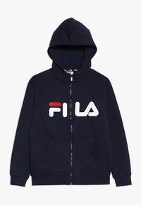 Fila - CLASSIC LOGO ZIP HOODY - Sudadera con cremallera - black iris - 0