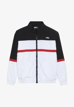 TOBIN - Training jacket - bright white/black/true red