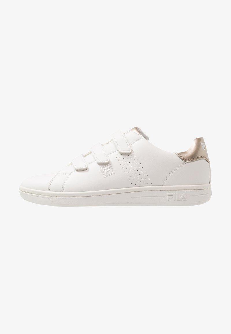 Fila - CROSSCOURT - Sneakers - white/gold