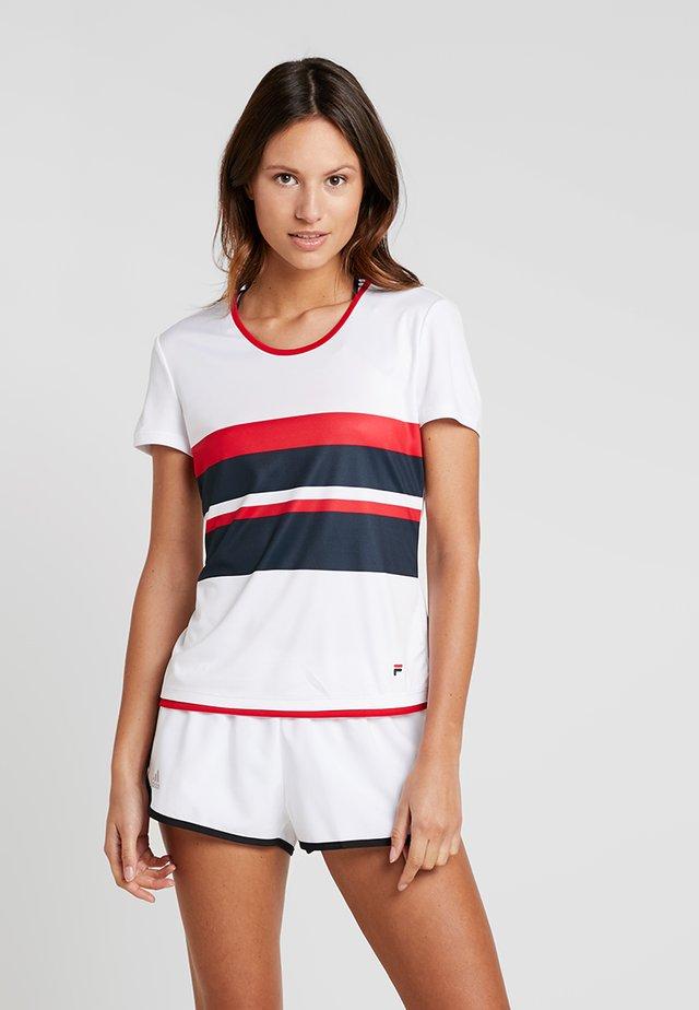 SAMIRA - T-Shirt print - white/blue/red