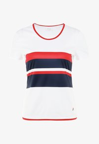 Fila - SAMIRA - Print T-shirt - white/blue/red - 4