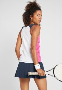 Fila - RACERBACK ASHLEY - Sports shirt - white/fuchsia purple/peacoat blue - 2