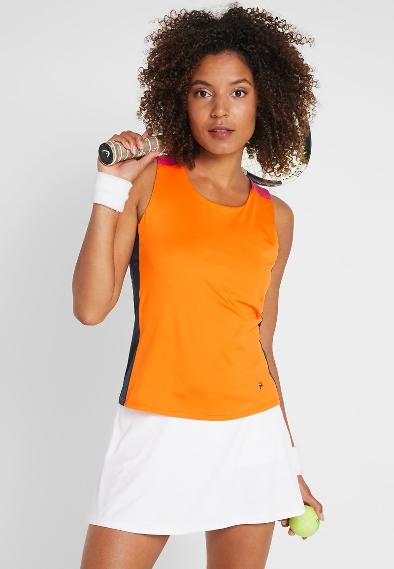 Fila - RACERBACK ASHLEY - Sports shirt - orange peel