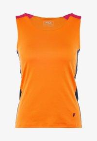 Fila - RACERBACK ASHLEY - Sports shirt - orange peel - 4