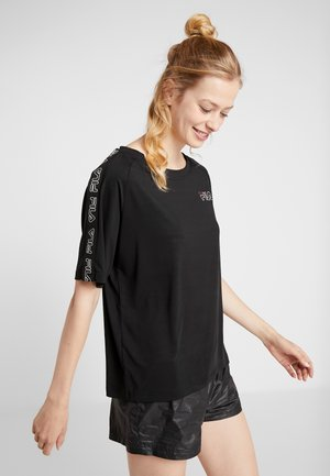 TEE LOOSE FIT - Printtipaita - black