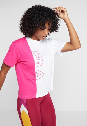 TEE - T-shirt imprimé - beetroot purple/bright white