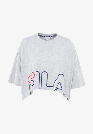 WIDE TEE - T-shirts med print - light grey melange bros