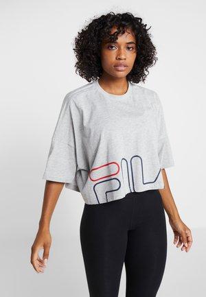 WIDE TEE - T-shirts print - light grey melange bros