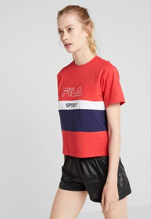 TEE - T-shirts med print - true red/black iris/bright white