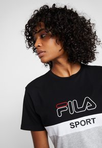 Fila - TEE - T-shirt imprimé - black/light grey melange/bright white - 3