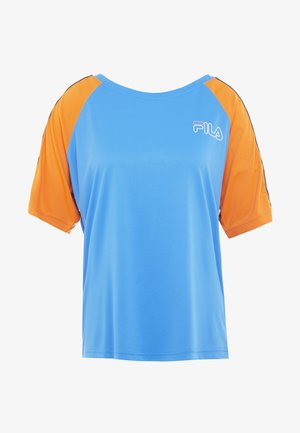 ADEL TEE LOOSE FIT - T-shirt con stampa - french blue/celosia orange